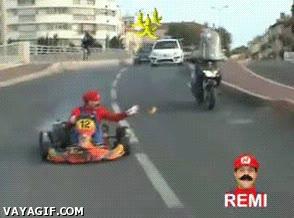 Enlace a Mario Kart en carne y hueso