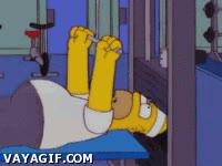 Enlace a Homer, el gimnasio no es lo tuyo