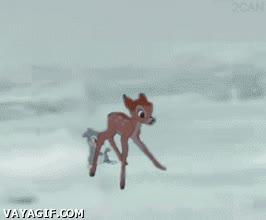 Enlace a Bambi en apuros