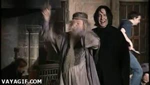 Enlace a Dumbledore y Snape de borrachera
