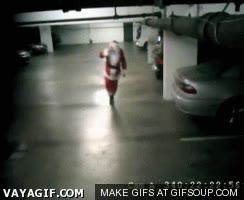Enlace a Papa Noel va trompa