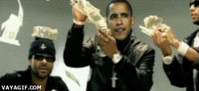 Enlace a Y Obama tirando el dinero