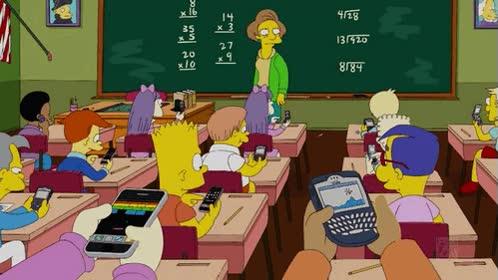 Enlace a BlackBerry, hasta en los Simpsons las tienen