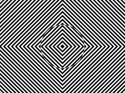 Enlace a Mira al centro durante 45 segundos, pasa de redondo a cuadrado
