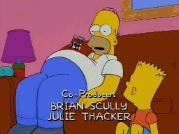 Enlace a Homer y su habilidad con su barriga