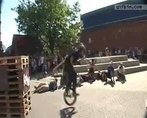 Enlace a Front-flip con monociclo