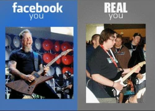 Enlace a Facebook vs Realidad