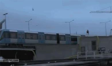 Enlace a Tren-polín