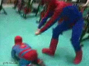 Enlace a Spiderman tiene problemas con sus hijos