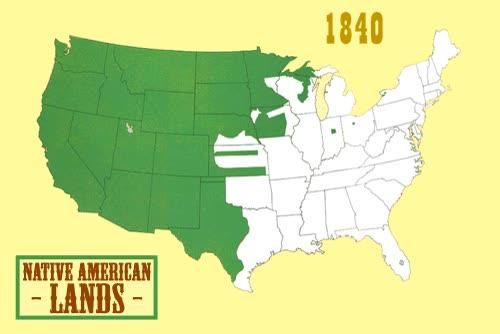 Enlace a Nativos americanos y cómo han perdido sus tierras