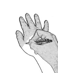Enlace a Mano que dibuja una mano que dibuja una mano que...