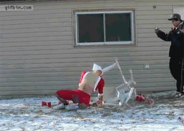 Enlace a Papa Noel y su nuevo trineo