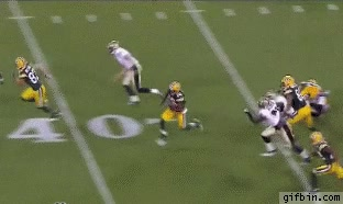 Enlace a Usain Bolt jugando a futbol americano