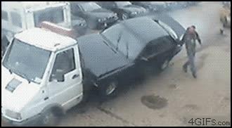 Enlace a Y así es cómo no se debe cargar un coche en la grúa