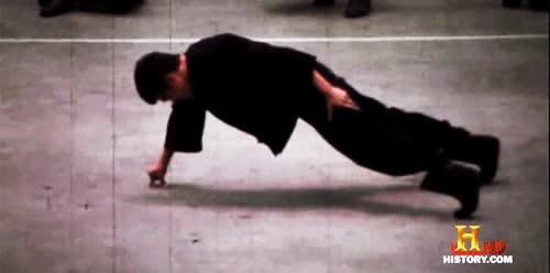 Enlace a Bruce Lee y sus flexiones
