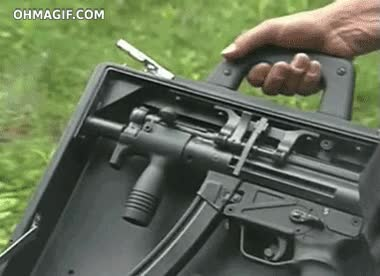 Enlace a Maletín / revólver