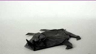 Enlace a Un rinoceronte con papiroflexia