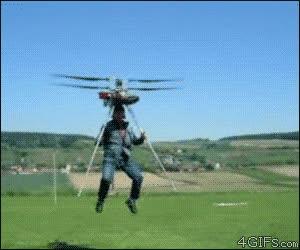 Enlace a Helicóptero humano