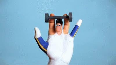 Enlace a Hacer pesas con los dedos