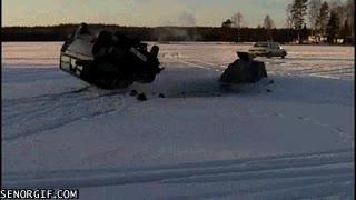 Enlace a Intento fallido de saltar sobre nieve