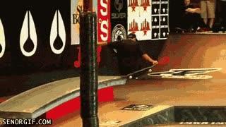 Enlace a Skater sin piernas, esto es coraje
