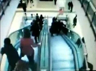 Enlace a Moraleja: no te sientes nunca en unas escaleras mecánicas