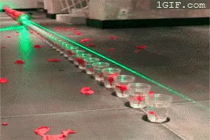 Enlace a Un récord mundial utilizando rayos láser