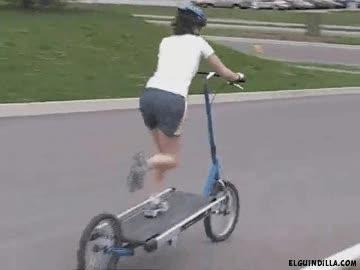 Enlace a Ir en bici mientras haces cinta
