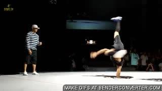 Enlace a Breakdancing con el codo