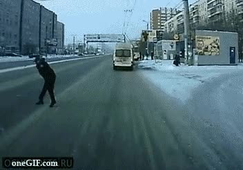Enlace a Cruzando la calle en Rusia