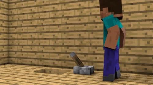 Enlace a Máquina inútil, versión Minecraft