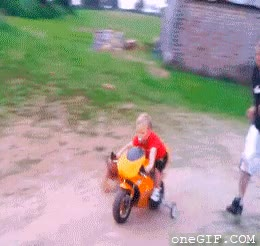 Enlace a Sus hobbies: el chupete y la motocicleta