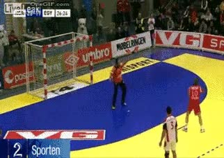 Enlace a Espectacular gol en balonmano