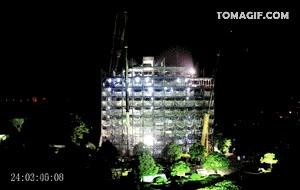 Enlace a Japón: levantando un edificio de 15 pisos en dos días