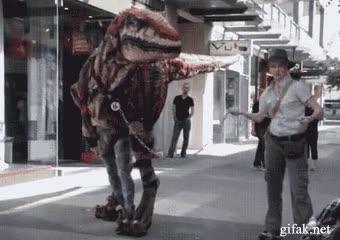 Enlace a Velociraptor en la ciudad