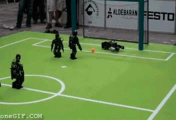 Enlace a Fútbol con robots, ¡qué dinamismo! ¡qué velocidad!