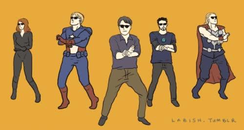 Enlace a Avengers - Gangnam Style