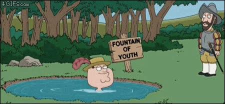 Enlace a Family guy y la fuente de la juventud