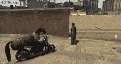 Enlace a No soporto cuando salgo a la calle y un caballo casi me atropella con su moto voladora