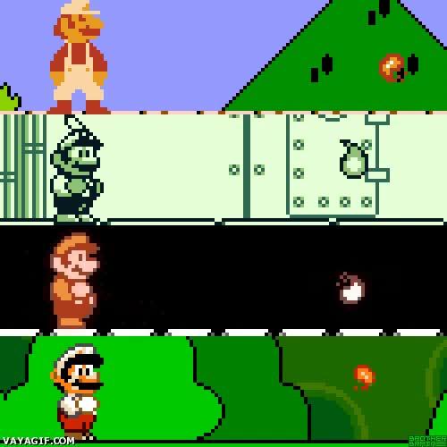 Enlace a Evolución de las bolas de fuego del Super Mario
