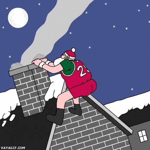 Enlace a Nada le gusta más a Santa que machacar aros o chimeneas
