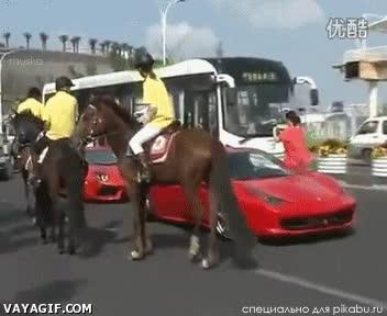 Enlace a Con que tienes un caballo dibujado en el coche, ¡¿eh?!