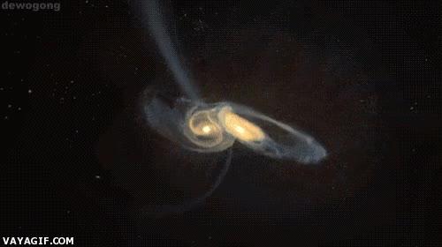 Enlace a Choque de galaxias