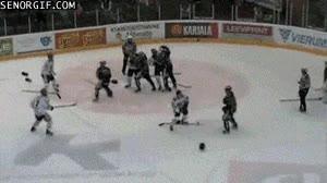 Enlace a Como pienso en el hockey sobre hielo, esto es lo que imagino
