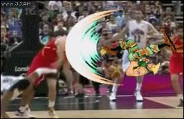 Enlace a Street Fighter, basketball edition
