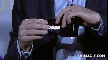 Enlace a Presentación del nuevo teléfono Samsung, de pantalla flexible