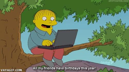 Enlace a Todos mis amigos tienen cumpleaños este año