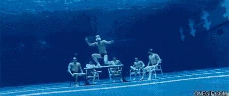 Enlace a Harlem Shake bajo el agua