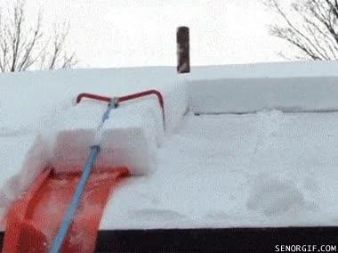 Enlace a Quitando la nieve del tejado con estilo