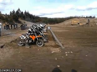 Enlace a Probablemente la carrera de motocross más rápida de la historia